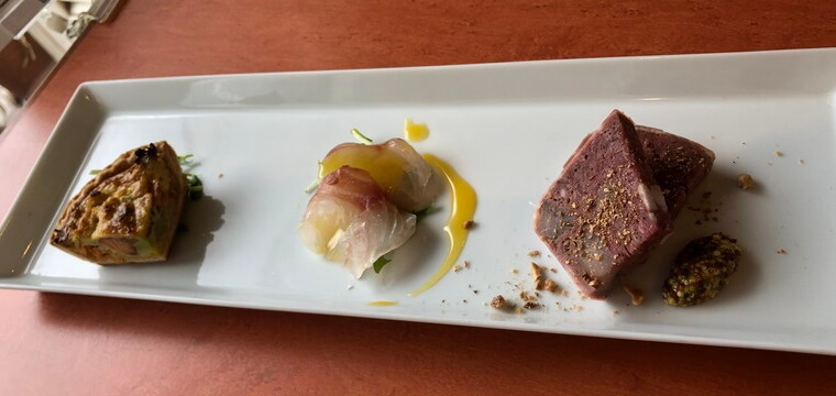 ピアチェーボレ ランチ 海鮮の前菜